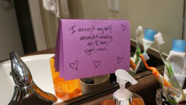 self acceptance note on mirror